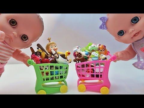 Видео, Куклы Пупсики Покупки Игрушки Сюрпризы Маша и Медведь Гадкий Я Щенячии Патруль Зырики ТВ мультик
