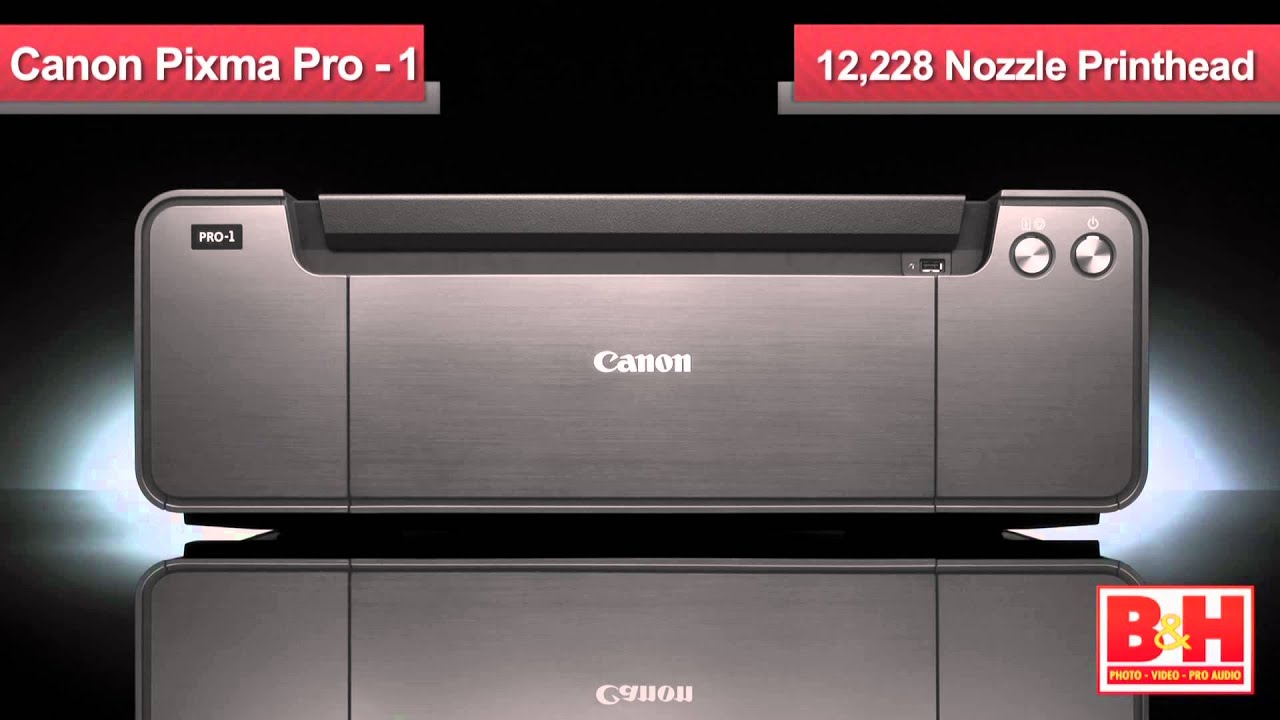canon pixma pro 1 inkjet printer youtube. Black Bedroom Furniture Sets. Home Design Ideas