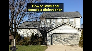 How to secure and level the dishwasher in the kitchen cabinet area. - VOTD