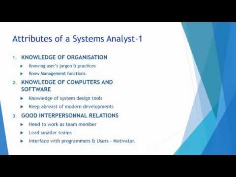 Role of Systems Analyst