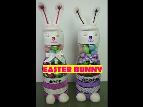 Re-Purposed Creamer Bottle into Easter Bunny Candy Holder or Piggy Bank | Video Tutorial