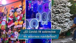 Tras los informes de que el SARS-CoV-2 puede permanecer hasta días en algunas superficies, surge la pregunta: ¿el Covid-19 se puede propagar por medio de los adornos navideños?, aquí te contamos los detalles