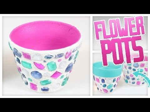 DIY Mosaic Flower Pots! - Do It, Gurl