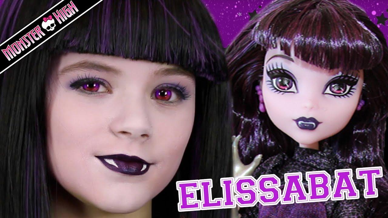 Monster high elissabat doll makeup tutorial for halloween or cosplay monster high elissabat doll makeup tutorial for halloween or cosplay kittiesmama youtube baditri Images