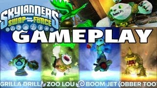 Swap Force Gameplay - 4 Characters Preview (Slobber Tooth, Boom Jet, Grilla Drilla, Zoo Lou)