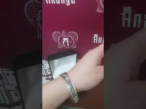 Кубачинский браслет из серебра авторской ручной работы Кубачи купить у производителя Апанде