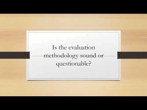 program evaluation critique