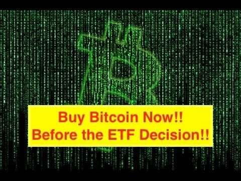 Bitcoin ETF...Buy Bitcoin NOW! (Bix Weir)