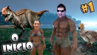 Sobrevivência com Dinossauros Primeira Noite - Ark Survival Evolved Multiplayer thumbnail