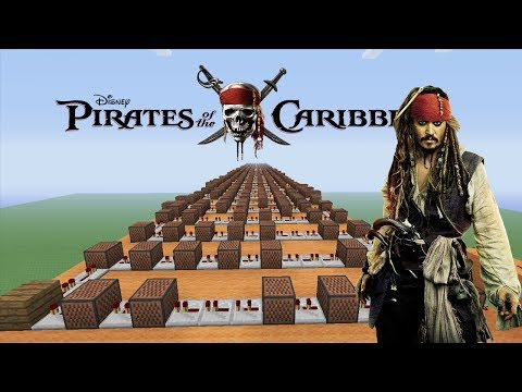 """Pirates Of The Caribbean """"He's A Pirate"""" - Minecraft Xbox """"NoteBlock Song"""""""
