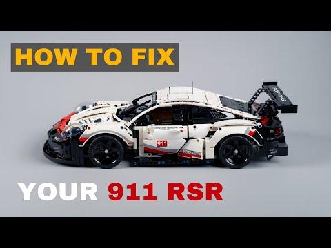 How to fix your Lego Technic Porsche 911 RSR – Lego Set 42096