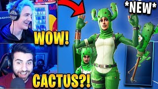 "Streamers React to *NEW* ""Prickly Patroller"" Skin & ""Prickly Axe"" Pickaxe! 
