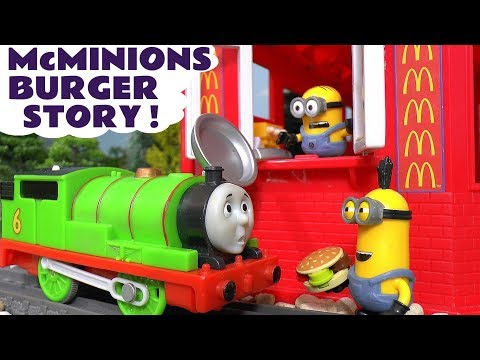 Despicable Me 3 Minions McDonalds Drive Thru  Burger Prank - Thomas & Friends Toys for kids TT4U