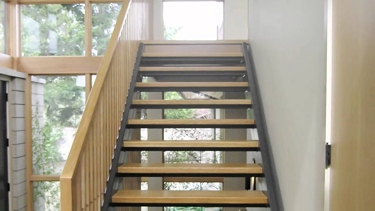 Custom Open Riser Stairs - YouTube