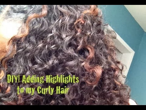 Diy adding highlights to my curly hair youtube pmusecretfo Gallery
