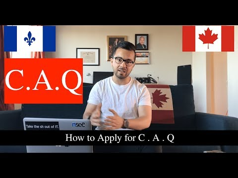 VLOG 10: How to apply for C.A.Q (Quebec Acceptance Certificate) for study in Quebec, Canada