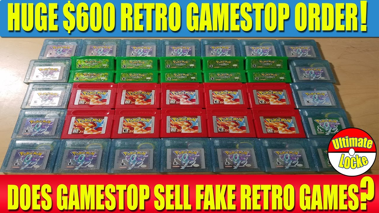 HUGE $600 RETRO GAMESTOP ORDER! - DOES GAMESTOP STILL SELL FAKE RETRO GAMES?