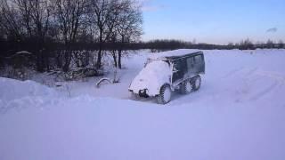 уаз 6х6  по снегу