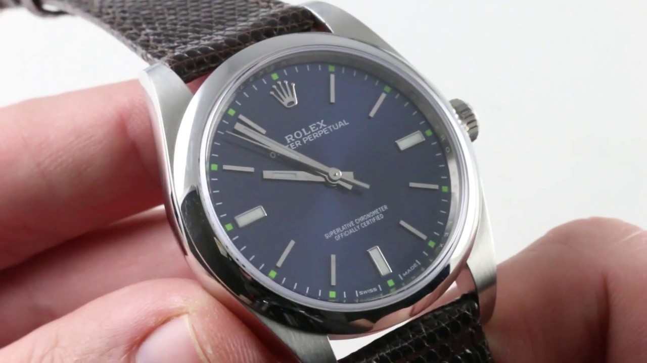 Rolex Oyster Perpetual 39mm/Blue 114300 Luxury Watch Review