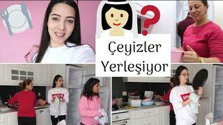 GÖRÜMCEMİN ÇEYİZLERİ | Mutfağı Yerleştiriyoruz Part 1| Yeni Gelin Evi #çeyizvideoları #evyerleştirme Video
