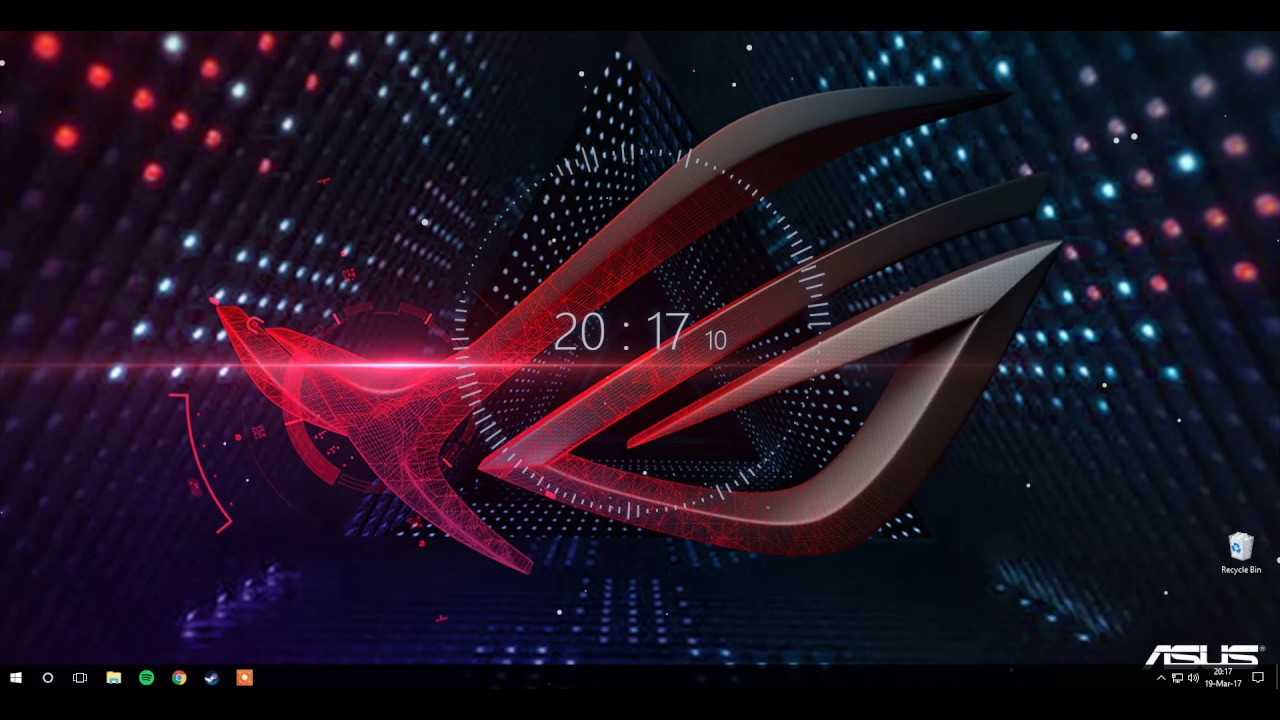Wallpaper Engine with Audio Visualizer/Asus ROG wallpaper - YouTube