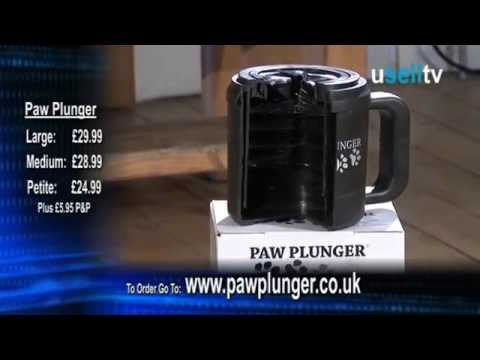 how to use the paw plunger youtube. Black Bedroom Furniture Sets. Home Design Ideas