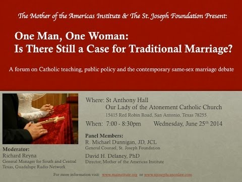 One Man, One Woman Marriage Forum