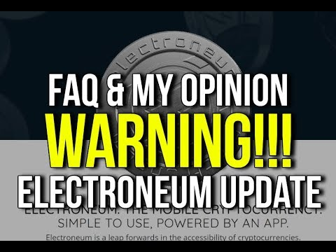 Electroneum Crypto Currency ICO Launch Review UPDATE -  What Is It, Who Are They? Electronium Crypto
