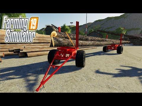 Перевозка леса на Metaltech Longwood в Farming Simulator 19