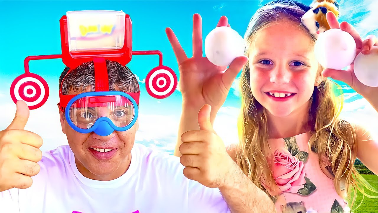 Nastya and papa learn how to compose their funny fictional stories for children.