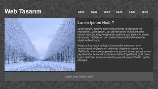 CSS ve DIV Kullanarak Web Sayfası Oluşturma