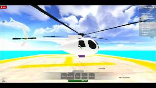 me messing arournd with a helicopter in roblox