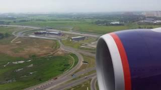 Посадка Боинга 777 300ER ак Аэрофлот в Москве Шереметьево
