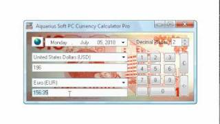 USD/EUR Forex Rates and Currency Converter (PC)
