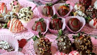 Rosas y Corazones de Fresa Cubiertos de Chocolate