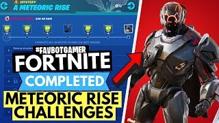 HOW TO COMPLETE ALL THE METEORIC RISE CHALLENGES - FORTNITE SCIENTIST SKIN