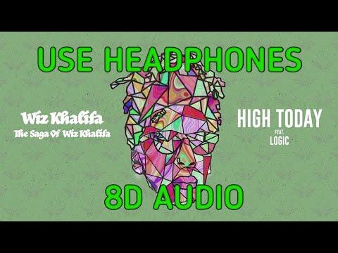 Wiz Khalifa - High Today feat. Logic   8d AUDIO