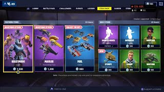 *NEW* BEASTMODE Skin, STUMPY Pickaxe - March 24th Fortnite Daily Item Shop LIVE