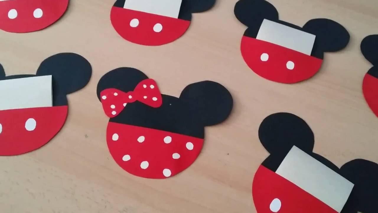 abbastanza Inviti di compleanno Mickey mouse fai da te - YouTube OO06