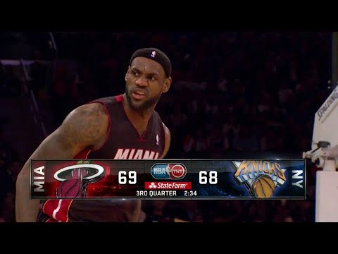 2014.01.09 - LeBron James Full Highlights at Knicks - 32 Pts, 6 Assists