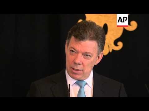 Colombian President Santos visits Portugal