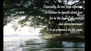 Desiderata ~ The poem