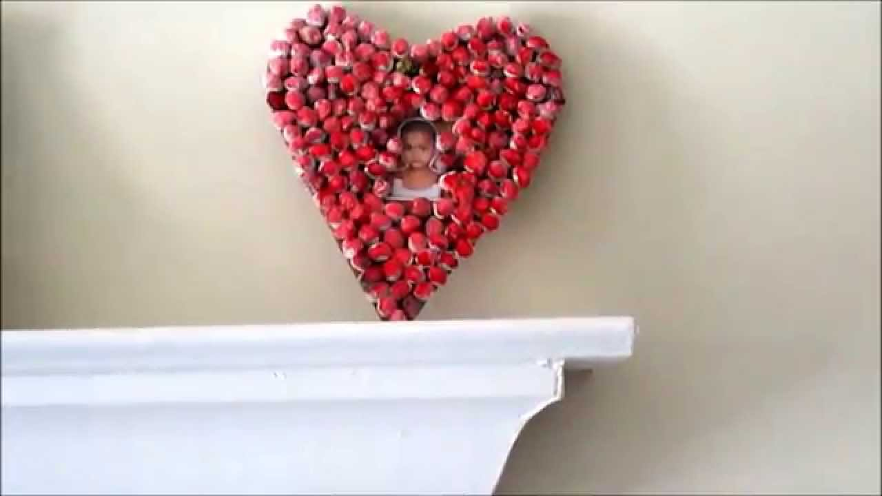 Recycle valentine wall hanging out of recycled paper for Waste material video