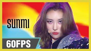60FPS 1080P   SUNMI - LALALAY, 선미 - 날라리  Show! Music Core 20191019