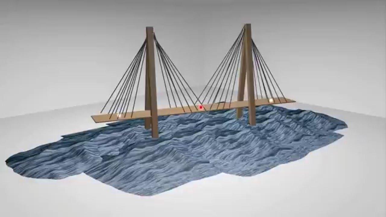 maquette de pont en 3d youtube. Black Bedroom Furniture Sets. Home Design Ideas
