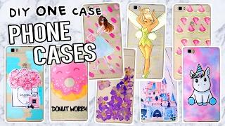 10 DIY PHONE CASE ideas! Using ONE case! Disney, Tumblr & more!