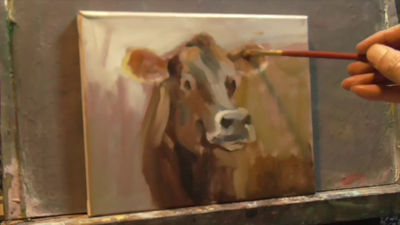 Cow Painting Real Time Every Brush Stroke Alla Prima Daily Painter