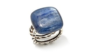 Studio Barse Kyanite Sterling Silver Open Band Ring