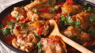 Курица тушеная с болгарским перцем