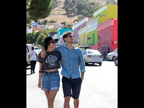 Matty Johnson and Laura Byrne pack on PDA in South Africa